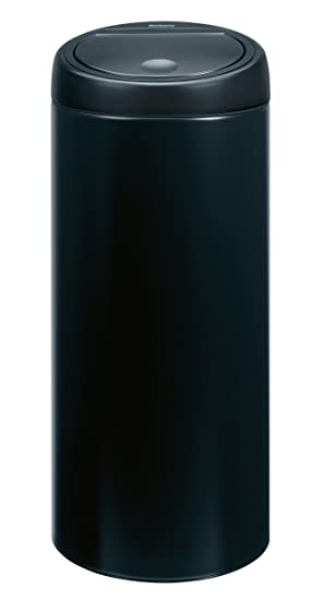 Brabantia Touch Bin 30 Liter Mat.Brabantia Touch Bin 30 L Matt Black Amazon Co Uk Kitchen Home