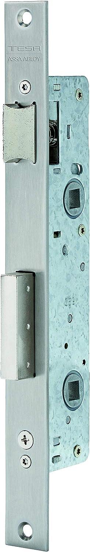 Tesa Assa Abloy 221428AI Cerradura Monopunto De Palanca Deslizante Para Perfiles Metálicos Inoxidable Entrada 20 mm 2214