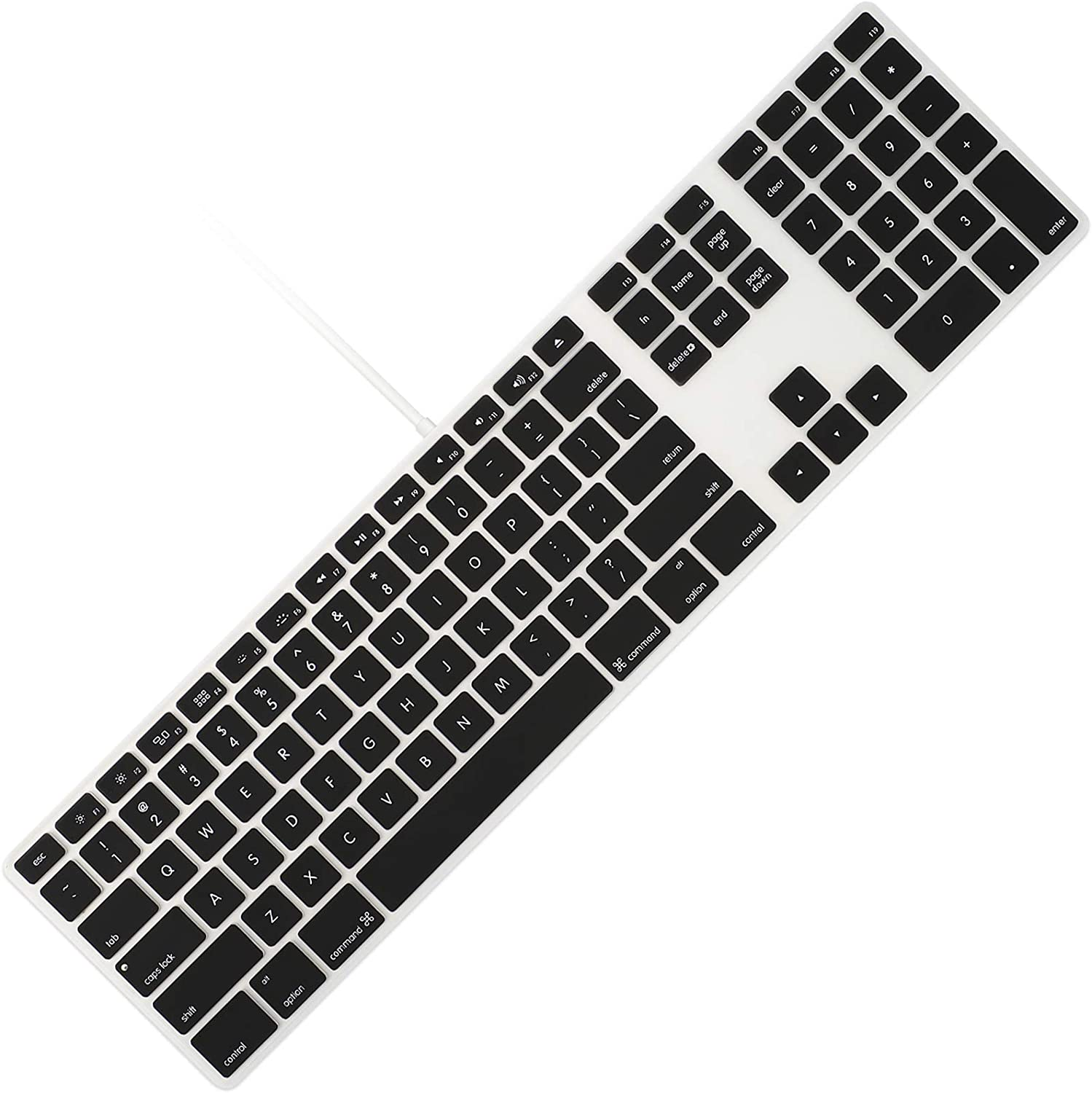 Allinside Black Keyboard Cover for iMac Wired USB Keyboard A1243 MB110LL/B