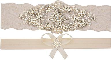 Ivory Wedding Garter 1804 Black Beaded Lace Garter Set,Bridal Wedding Grter,Wedding Garter Set Wedding Garter Set