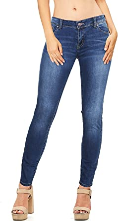 Wax Women S Juniors Basic Stretchy Fit Skinny Jeans At Amazon Women S Jeans Store