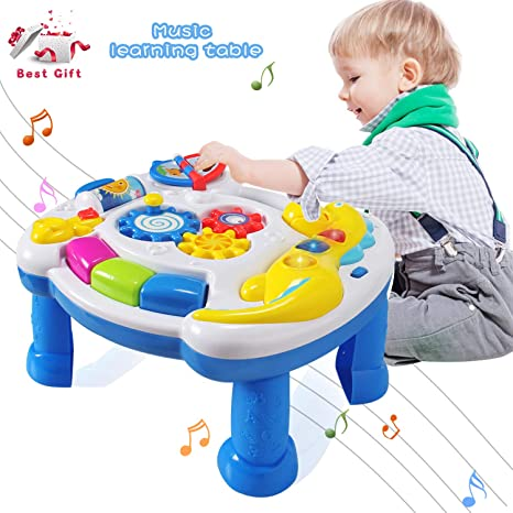266550da5 Amazon.com  HOMOF Baby Toys Musical Learning Table 6 Months up-Early ...
