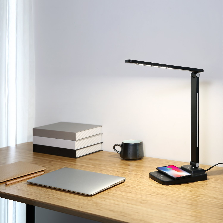 AUKEY Lampe de Bureau LED 12W avec Fonction de Recharge sans fil