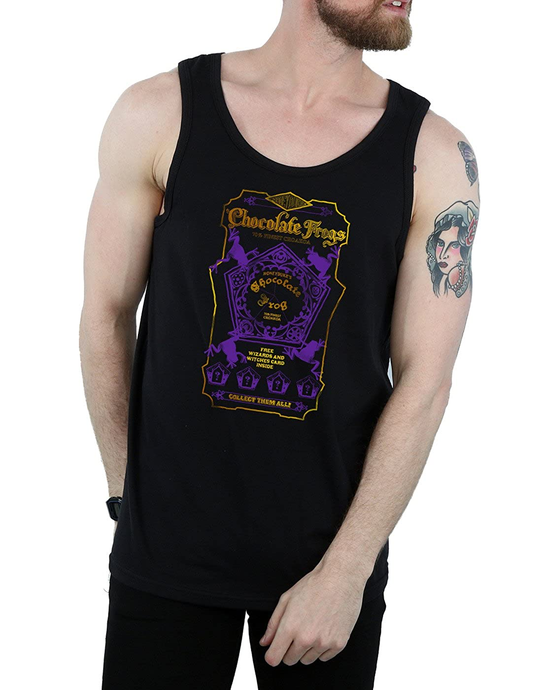 HARRY POTTER Mens Chocolate Frogs Coloured Label Tank Top