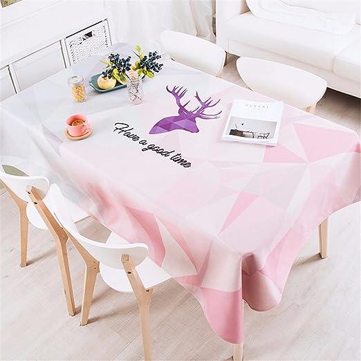 140 * 200 cm rosa PATCHWORK geométricas reno Instagram mantel ...