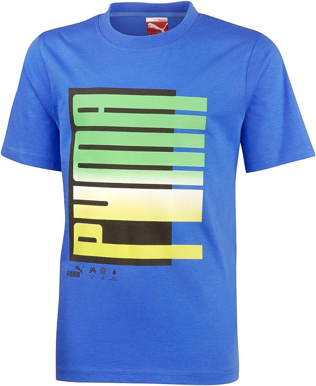 PUMA Fade tee - Camiseta para niño (algodón orgánico): Amazon.es ...