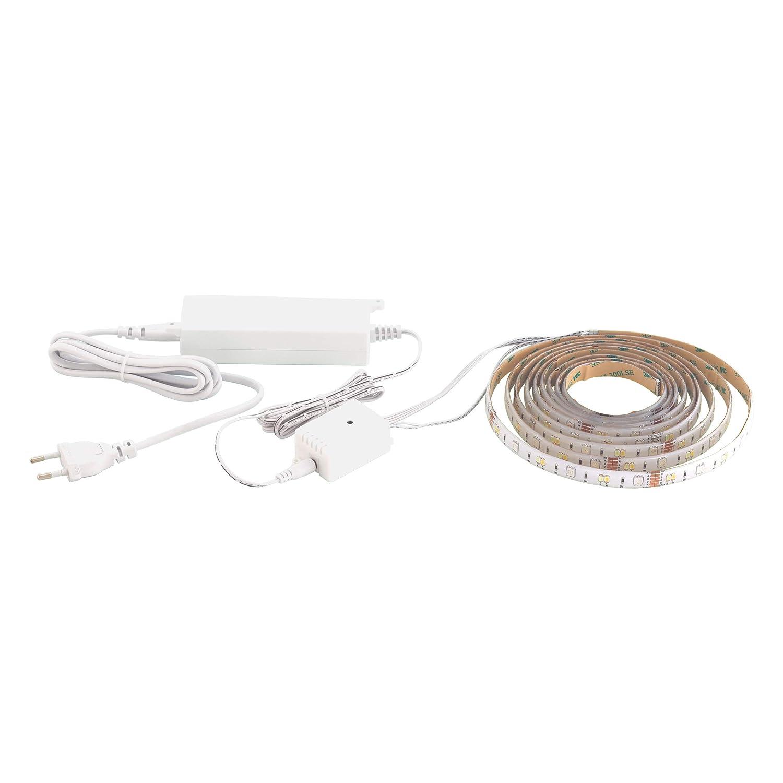EGLO 32733 LED Stripe 5m, dimmbar RGB und Weißton einstellbar mit Connect Funktion 2000 lm, Weiss