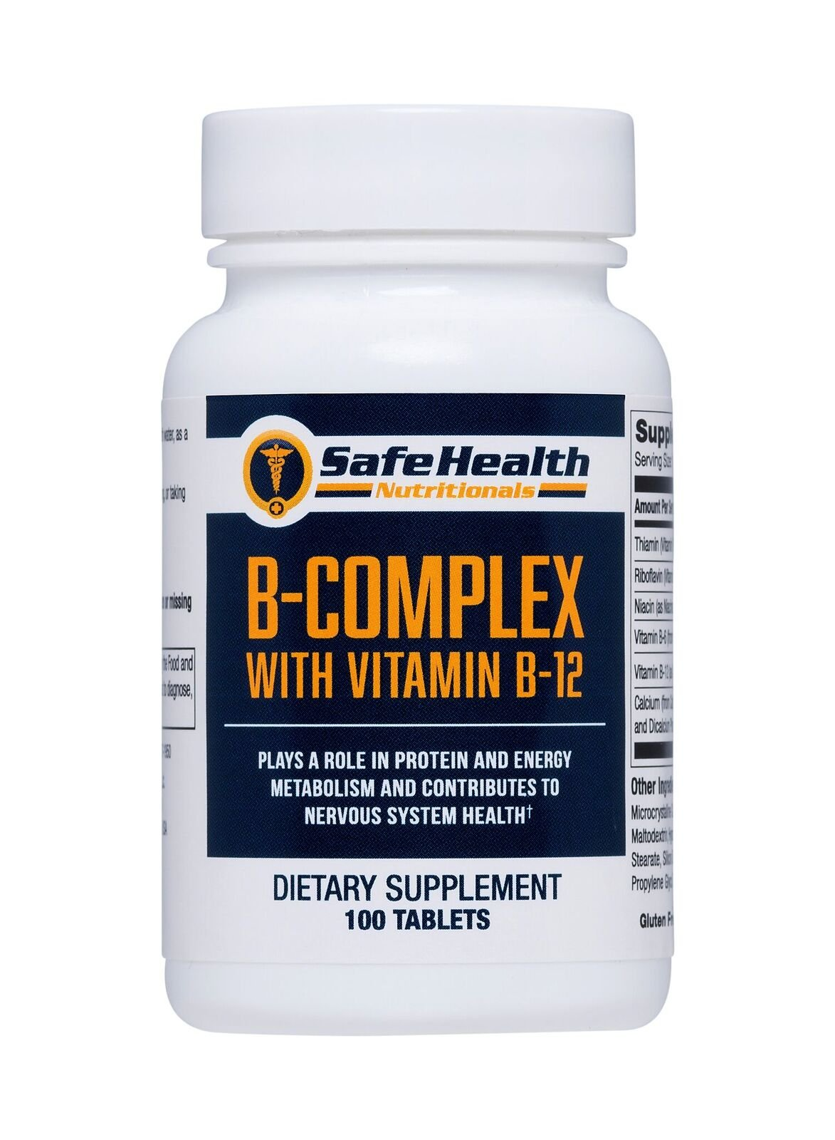 Safe Health Nutritionals B-Complex with Vitamin B-12 Tablet by Safe Health Nutritionals (Image #1)