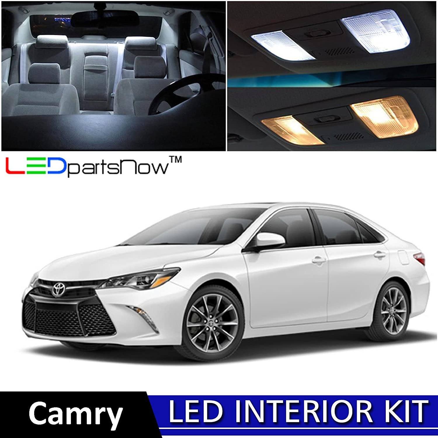 Ledpartsnow 2015 2018 Toyota Camry Led Interior Lights Land Cruiser 300 Accessories Replacement Package Kit 12 Pieces White Reverse Automotive