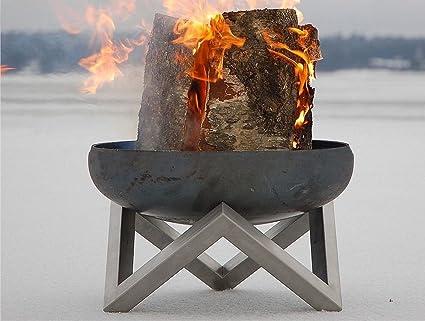 Feuerschale Feuerstelle Feuerkorb Ø63cm Edelstahl Terrassenfeuer Svenskav