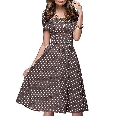 Dress 2018 Spring Summer Popular Dot Printing Vestidos Collar A-line ... 2c78b07be9f