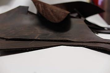 Lederstücke 2 mm Tolles Dickleder 2 kg Anschnitte in braun bis dunkelbraun