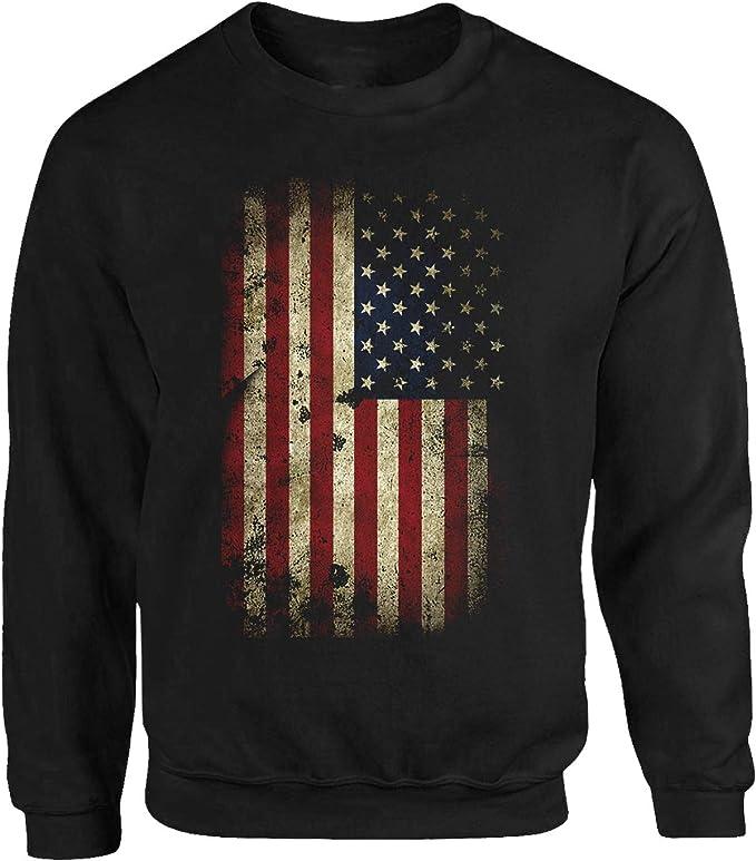 Tex-Ha USA - Sudadera, diseño de bandera de Estados Unidos, color negro: Amazon.es: Ropa y accesorios
