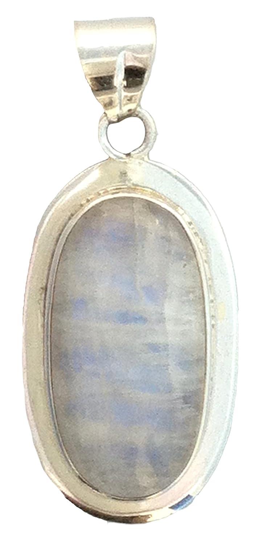 Moonstone 1.5 Healing Stone Sterling Silver Pendant
