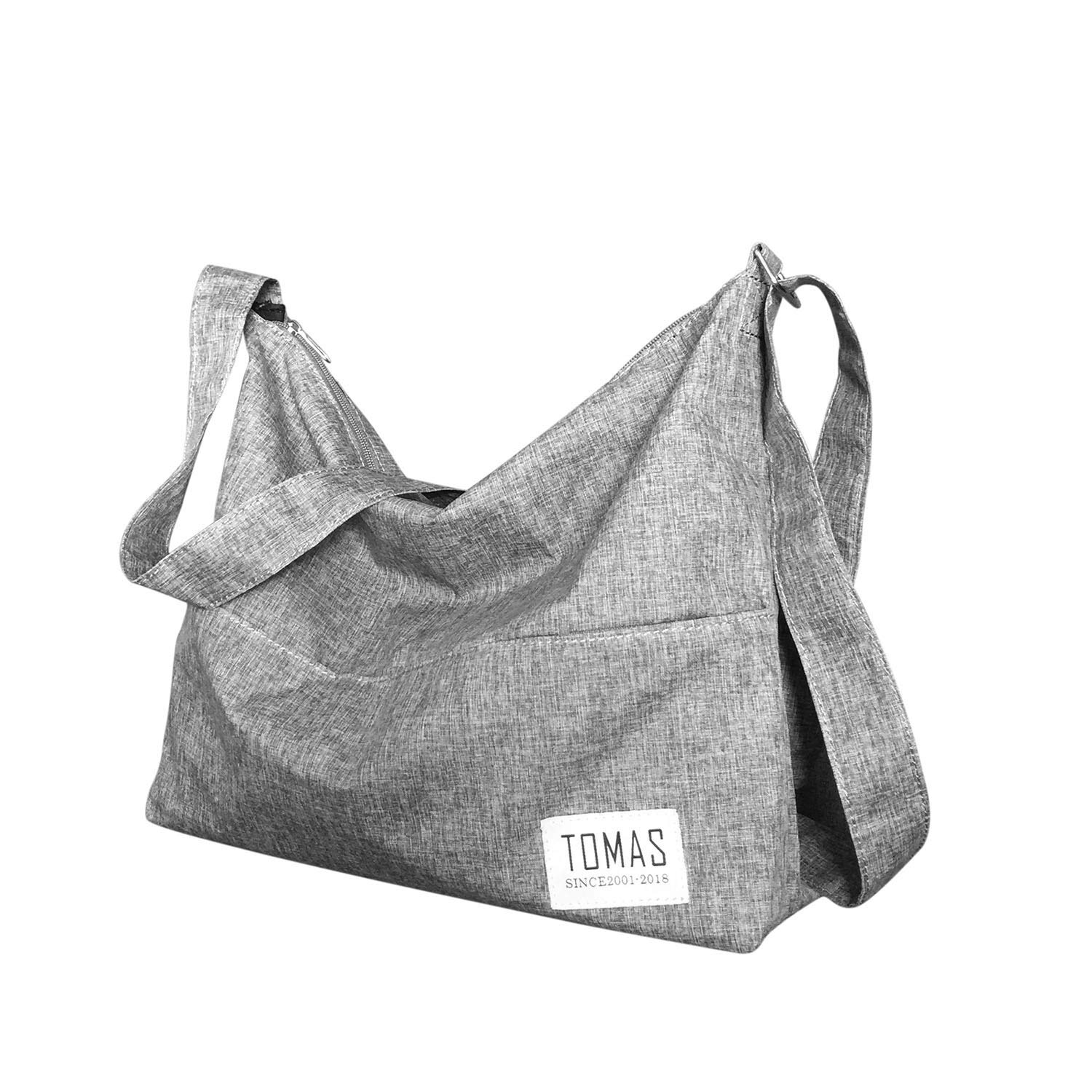 TOMAS Women Casual, Simple, Fashion, Resistant To Dirty, Lightweight,Durable Canvas Hobo Bag, Single Shoulder Bag Totes Bag Crossbody Bag by TOMAS (Image #2)