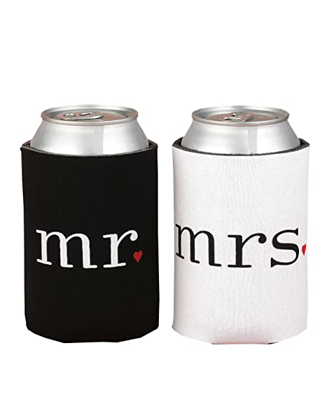 Hortense B Hewitt Wedding Accessories Mr And Mrs Can Coolers Gift Set