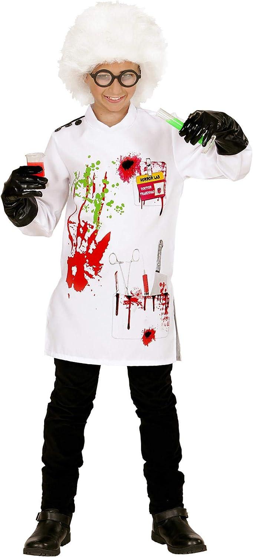 WIDMANN WDM73056 ? Disfraz para niños de científico loco (128 cm/5 ...