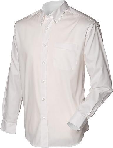 Henbury Camisa Clásico Manga Larga Modelo Oxford Work Hombre Caballero - Trabajo/Fiesta/Boda: Amazon.es: Ropa y accesorios