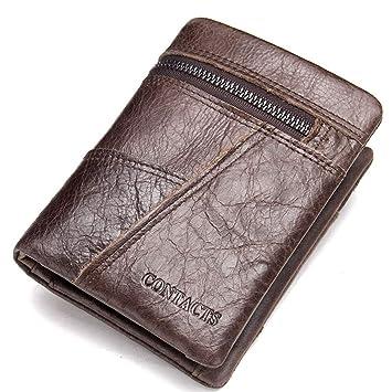 c0e7acaa3 Ploekgda Cartera Hombre Piel Corta 30% Billetera Stitch Clutch Marrón  (Color : Brown): Amazon.es: Hogar