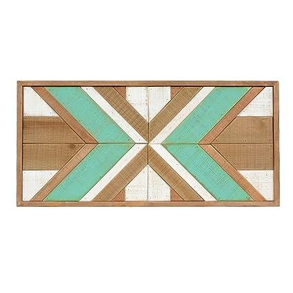 Turquoise Southwest Blanket Wood Wall Art