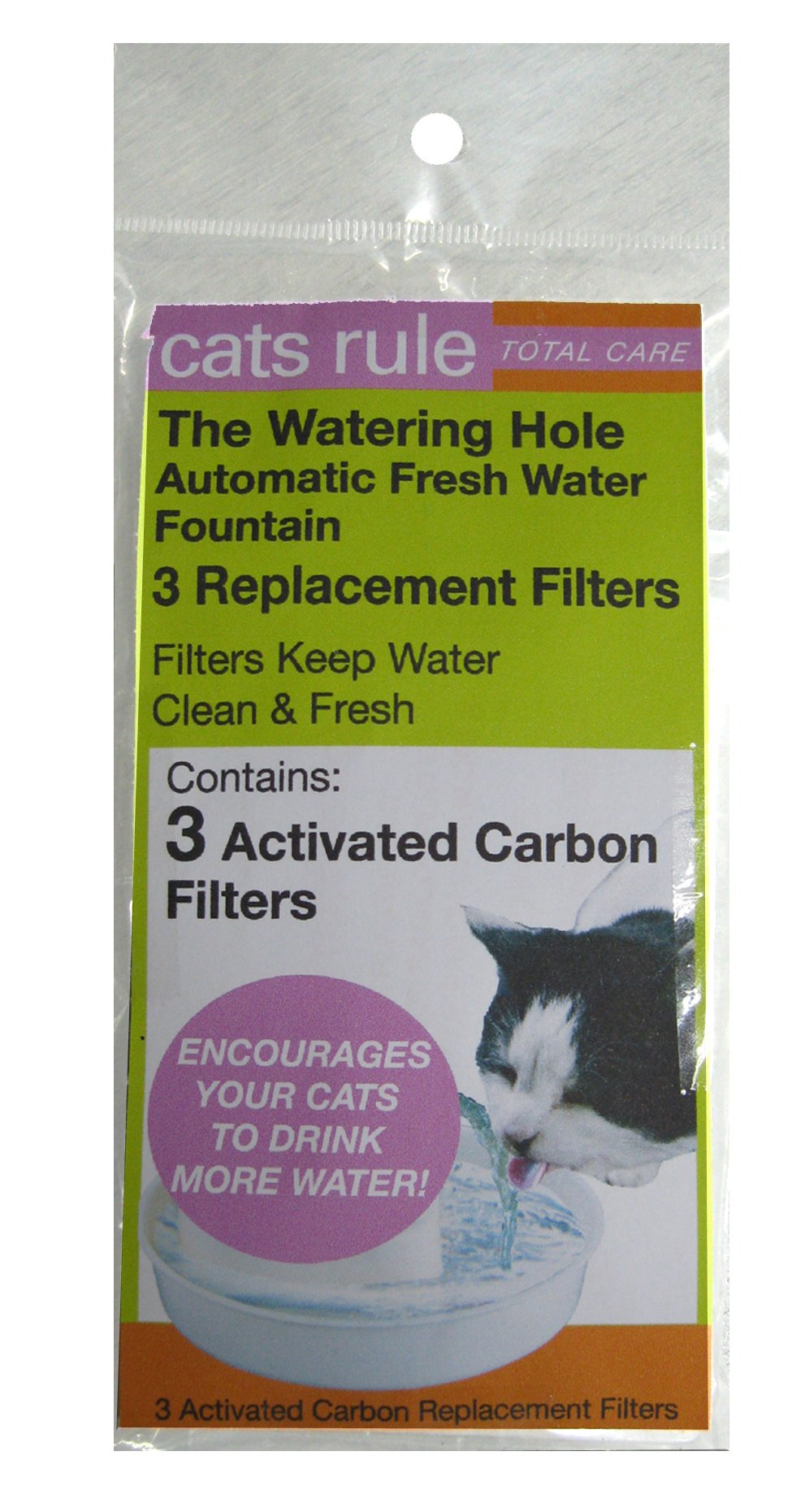 Cats Rule Replacement Filter for Fountain, 3-Pack