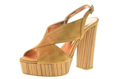 ALBANO scarpe donna sandali 1537 CUOIO taglia 40 Cuoio cXIcRwHNl6