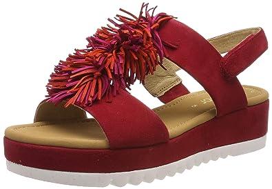 großer Rabatt guter Verkauf schöner Stil Gabor Sandalette rot