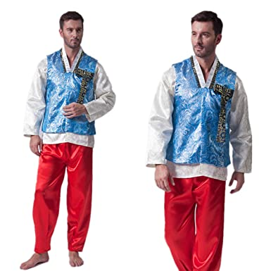 06d83530a0 Amazon.com: XINFU Mens Traditional Korean Costume Hanbok Set: Clothing