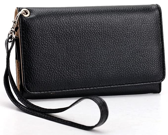 afd59b5bc968cf Amazon.com: Black MustHave Wristlet Wallet Case for Apple iPhone 5 ...