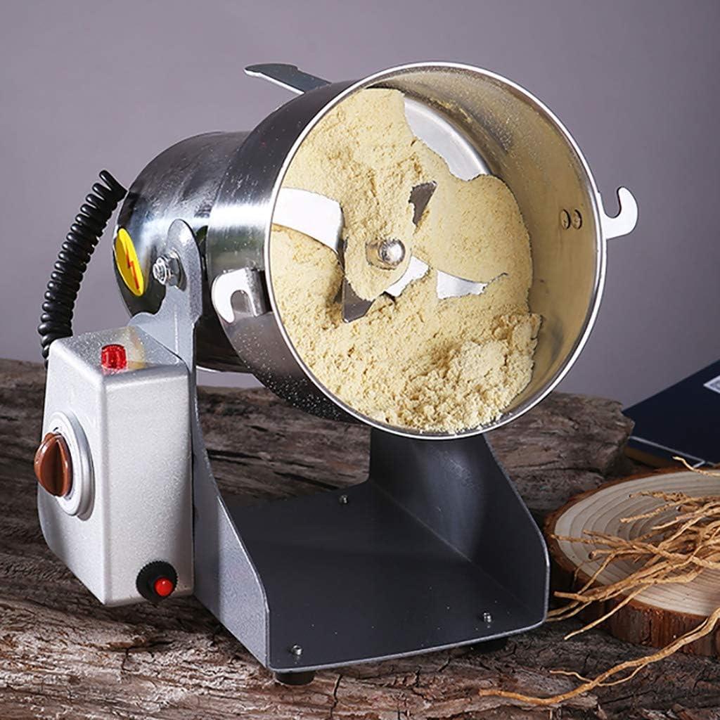 LXS Amoladora eléctrica del Grano Hierba del Molino de Especias en Polvo Amoladora de la máquina de Acero Inoxidable Pulverizador Secado Materiales Rectificadora (Color : 2500) 200g
