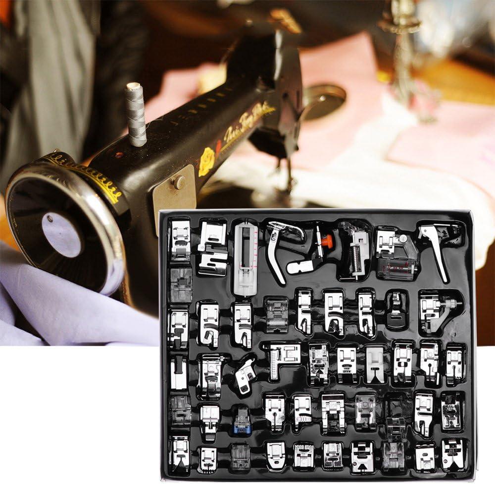 TTAototech 48Pcs Set di Piedini per Piedini per Macchina da Cucire Accessori per Pezzi di Ricambio Accessori per Cucito Brother Singer