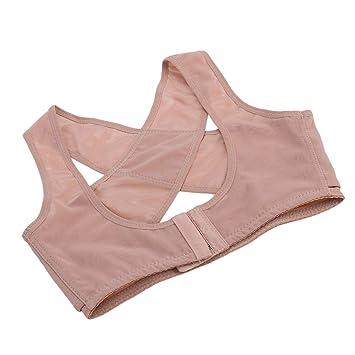 Yudanwin Postura Correcta Corrector de Postura Corrector de Joroba Corrección de Joroba Soporte de Sujetador de Pecho Brazalete para Mujer - Talla M: ...