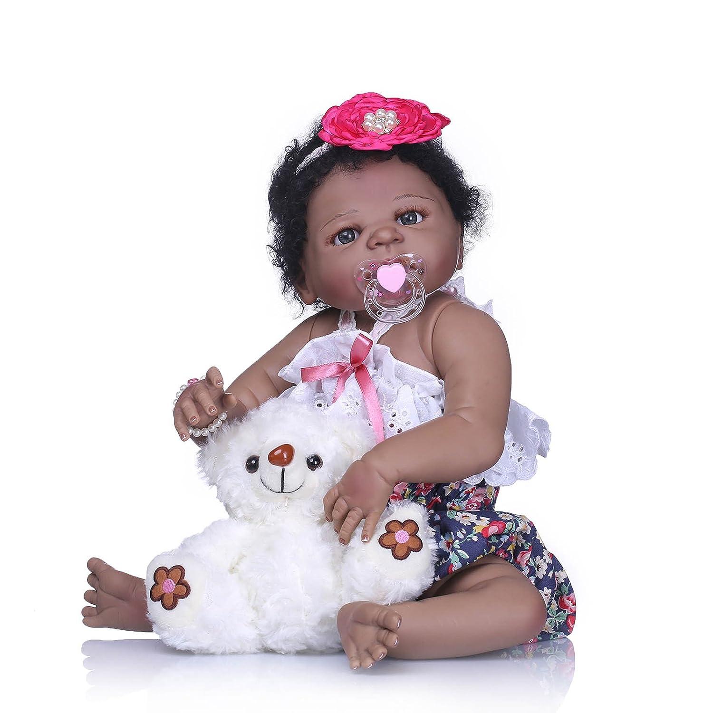Barato Nicery Reborn Baby - Muñeca de estilo indio (vinilo de 22 pulgadas 50-55 cm, magnético, para niños, amigos, vivo e impermeable, juguete para niña, con traje para Acción de Gracias, frigorífico, Navidad, Di