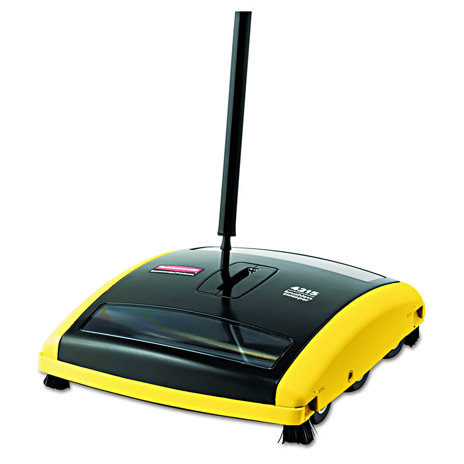 """Rubbermaid Commercial 421588BLA Brushless Mechanical Sweeper, 44"""" Handle, Black/Yellow"""