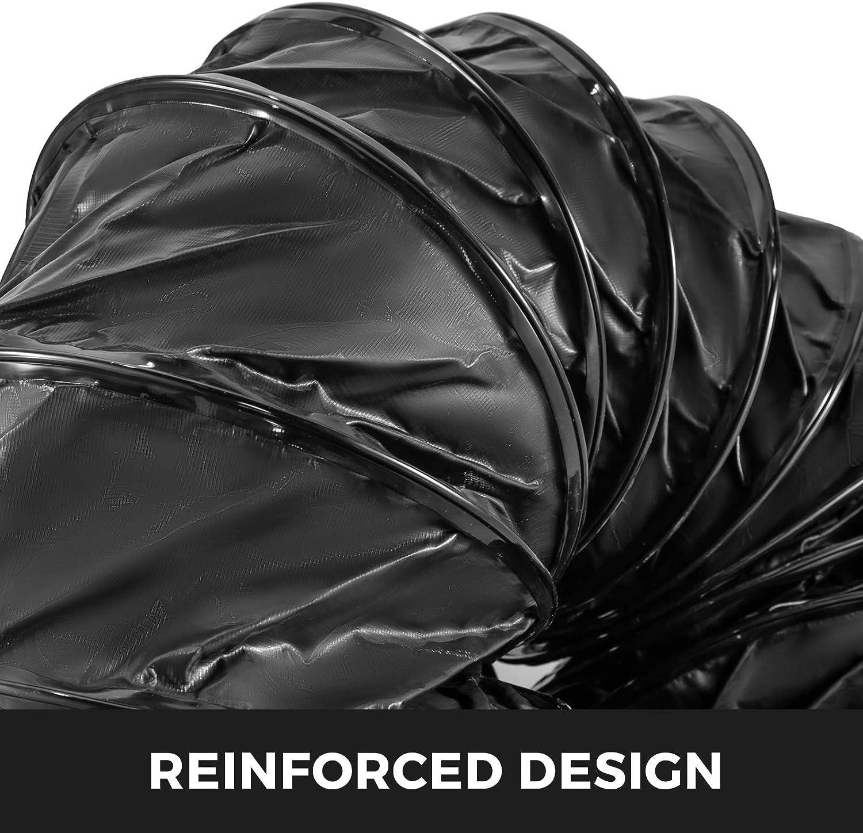 Frantools Tuyaux en PVC D457-L7.6 Tuyau flexible PVC R/ésistant /à lusure Cordes ajustables pour ventilateur dextraction