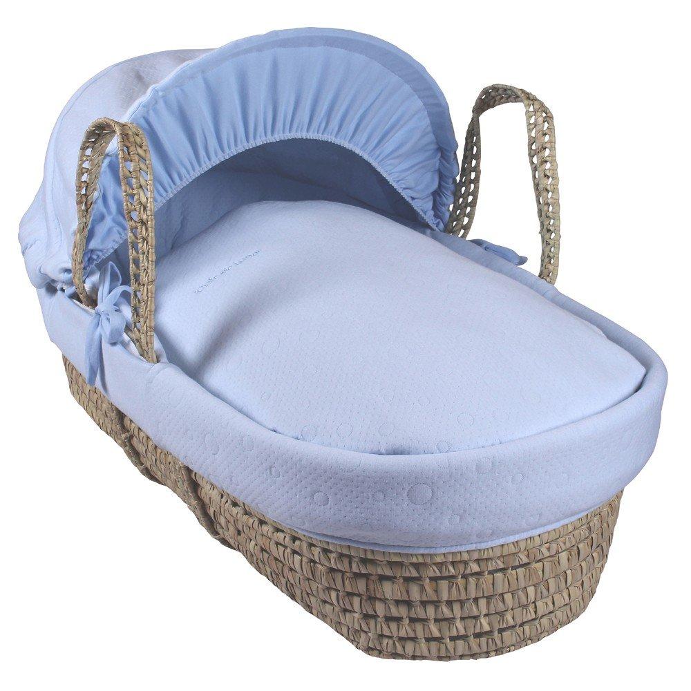 Clair de Lune Cotton Candy culla in legno di palma, blu CL5446BE
