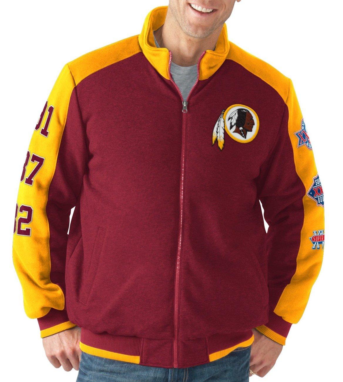 new concept 010b5 2fc13 G-III Sports Washington Redskins NFL Classic Men's Super Bowl Commemorative  Varsity Jacket