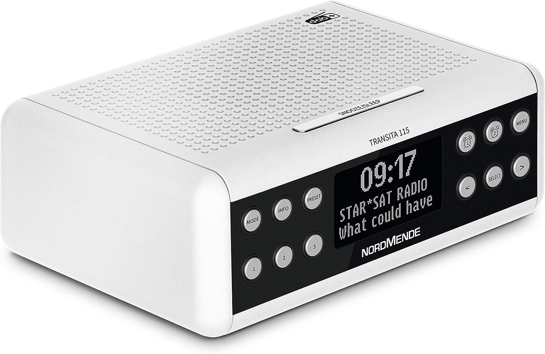 Nordmende Transita 115 DAB Radiowecker DAB+, UKW, Snooze Funktion, Wecker, Sleeptimer anthrazit