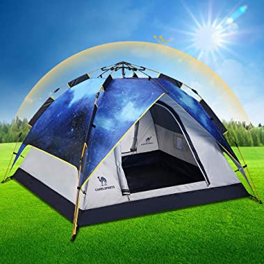 Camel Fourth-Generation Automatic Hydraulic Tent for 2-3 Person Outdoor Rainproof Camping