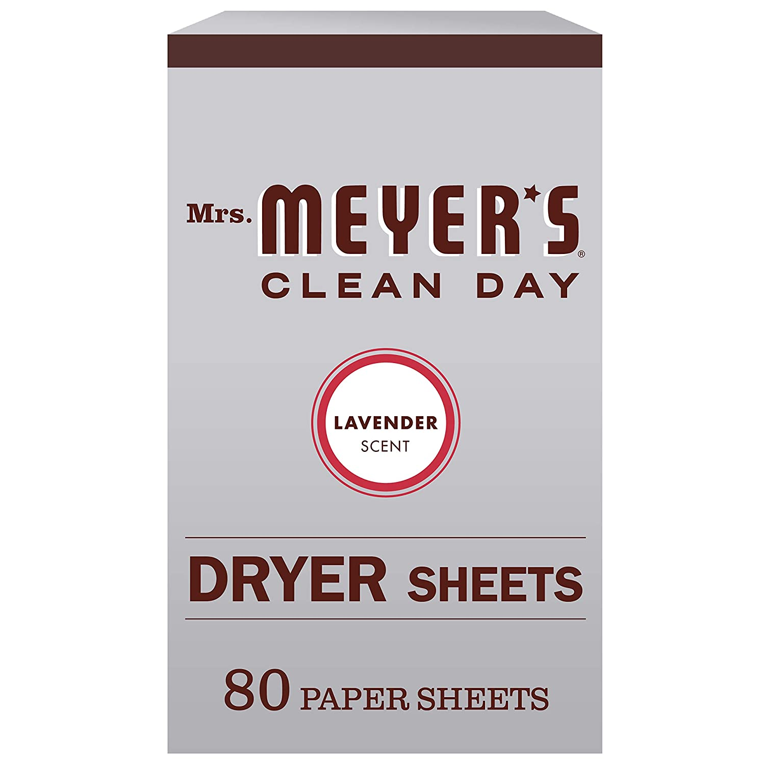 Mrs. Meyer's Clean Day Dryer Sheets, Softens Fabric, Reduces Static, Cruelty Free Formula, Lavender Scent, 80 Count