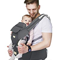 FRUITEAM Baby Carrier, 6-in-1 Baby Carrier with Waist Stool, One Size Fits All -Adapt to Newborn, Baby Hip Carrier for…