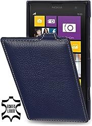 StilGut Étui UltraSlim en cuir pour Nokia Lumia 1020, bleu marine