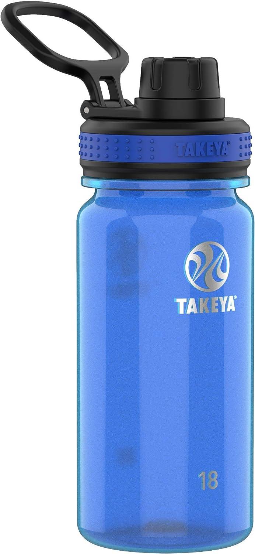 Takeya Tritan Sports Water Bottle with Spout Lid, 18 oz, Royal
