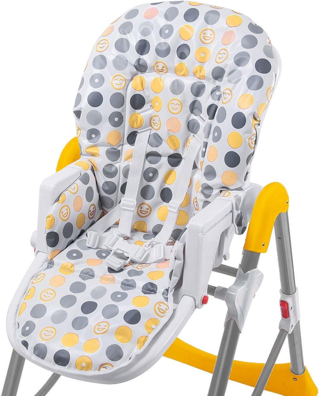 BABY VIVO Trona de bebe Silla para Ni/ños con Bandeja para Ni/ño de 6 meses a 3 a/ños Tippy Naranja en diferentes colores