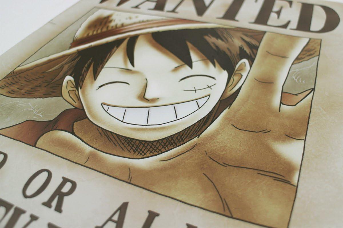 Amazon One Piece ワンピース 壁紙 42cm 29 7cm A3サイズ 手配書ルフィ 5億ベリー アニメ 萌えグッズ 通販