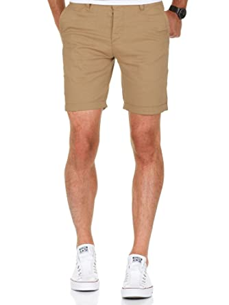 c390e0929756 Amaci Sons Herren Chino Shorts Kurze Bermuda Hose mit Strech Regular Fit  7014 Beige W29