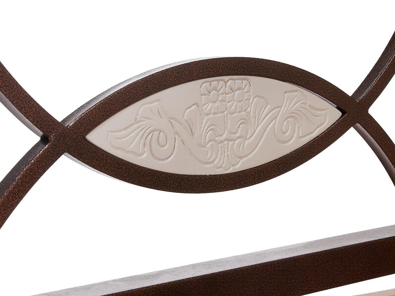massivum Bett Byzanz 180x200cm Rubberwood weiß gebeizt und lackiert ...