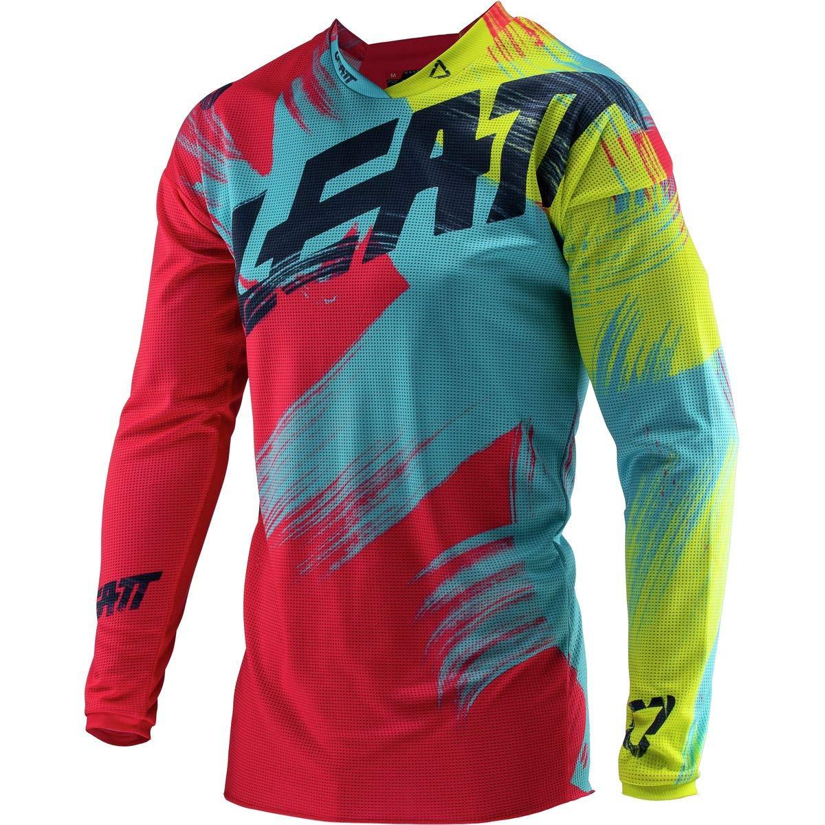 Leatt GPX 4.5 Lite Jersey-Red//Lime-L