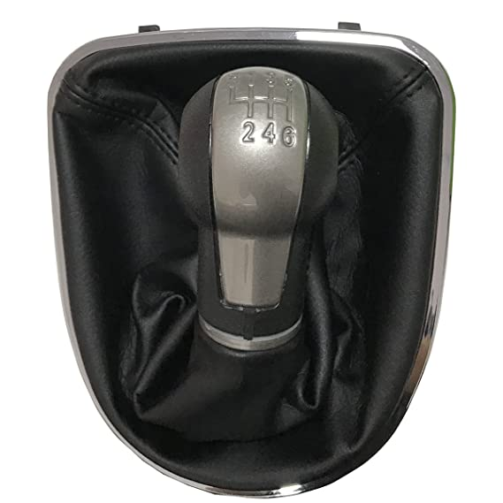 Maxiou Perilla Gear Shift con cubierta de arranque de cuero Gaitor para ALTEA LEON II 2 TOLEDO Palanca Stick para coche 5 6 velocidades Pomo de Cambio ...