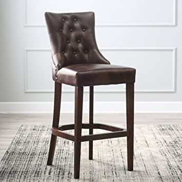 Astounding Amazon Com Bistro Premium Counter Bar Stools Leather Tufted Pdpeps Interior Chair Design Pdpepsorg